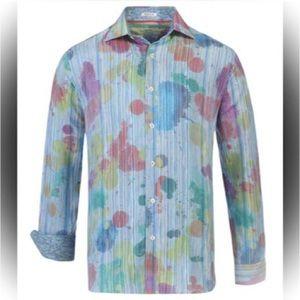 😎Awesome Bugatchi Uomo Men's Shirt Abstract Print